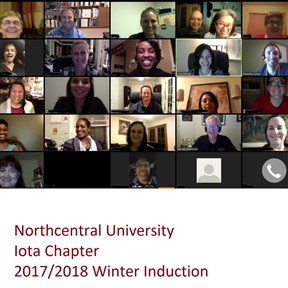 NCU's fully online accredited COAMFTE programs conduct a virtual Delta Kappa induction ceremony, connecting members around the globe!