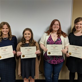 Pfeiffer University, Raleigh/Durham Campus, inducted new members in March